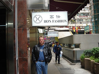 Malcolm Teasdale shopping in Hong Kong