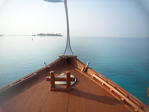 On board a Maldivian boat, Rangali, Maldives