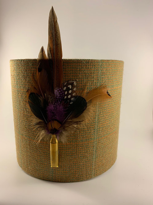 Tweed with Feathers Lamp Shade