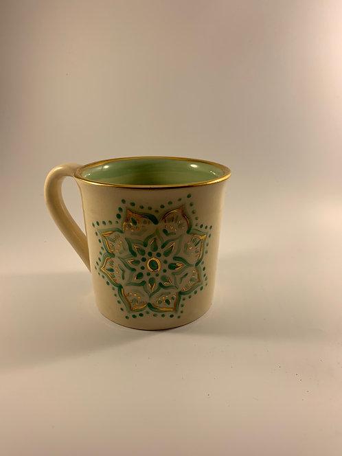 Hand Painted Mandala Mug