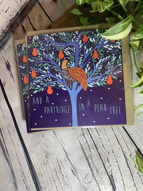 Partridge In A Pear Tree Card