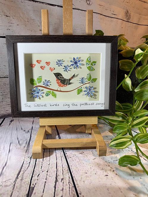 Little Birds 3D Paper-Craft Picture