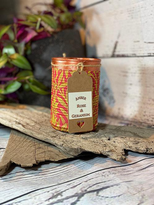 Amber Rose & Geranium Candle