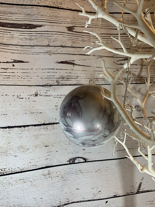 Marble Effect Baubles