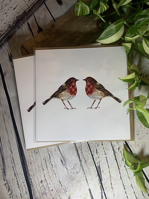 Pair of Robins Card