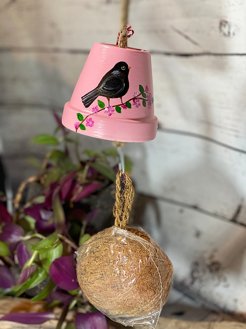 Hand Painted Bird Feeder