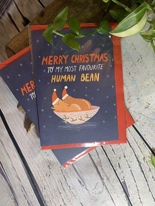 Favourite Human Bean Card