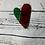 Thumbnail: Glass Heart Sun Catcher