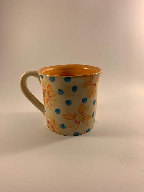 Hand Painted Flower Mug