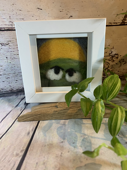 Needle Felted Sheep with Sun