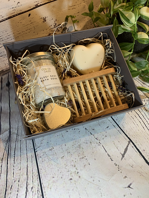 Lavender soap & bath soak gift set