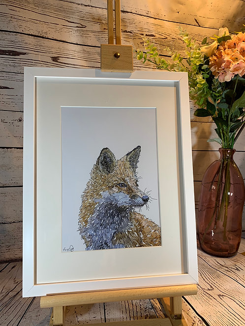 Side Fox Limited Edition Print