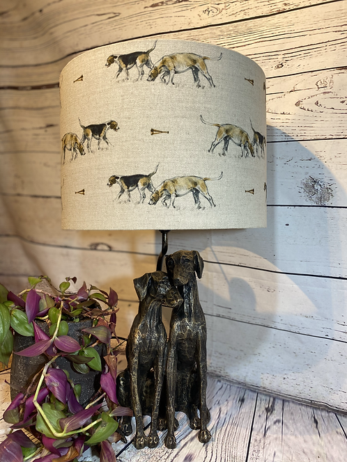 Hounds Lamp and Shade