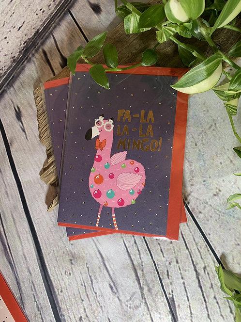 Fa-La-La-La Mingo Card