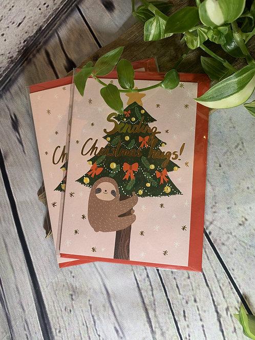 Sending Christmas Hugs Card
