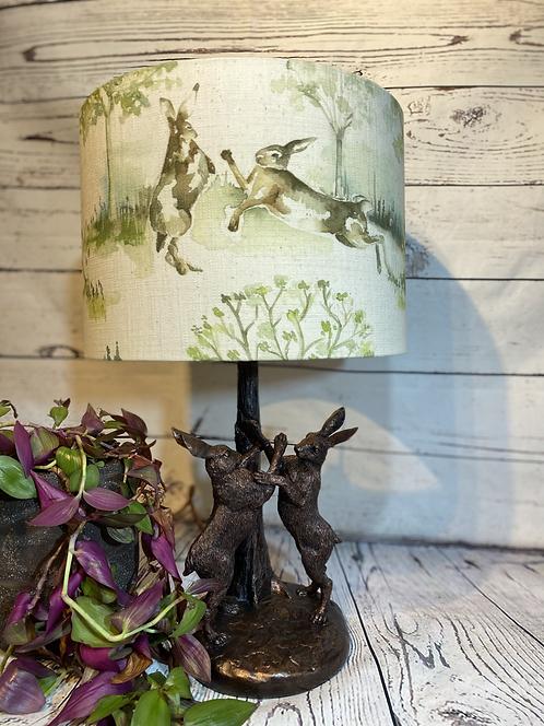 Boxing Hare Lamp and Shade