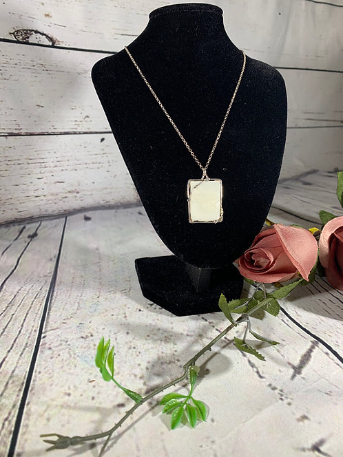 Sterling Silver White Shell Necklace