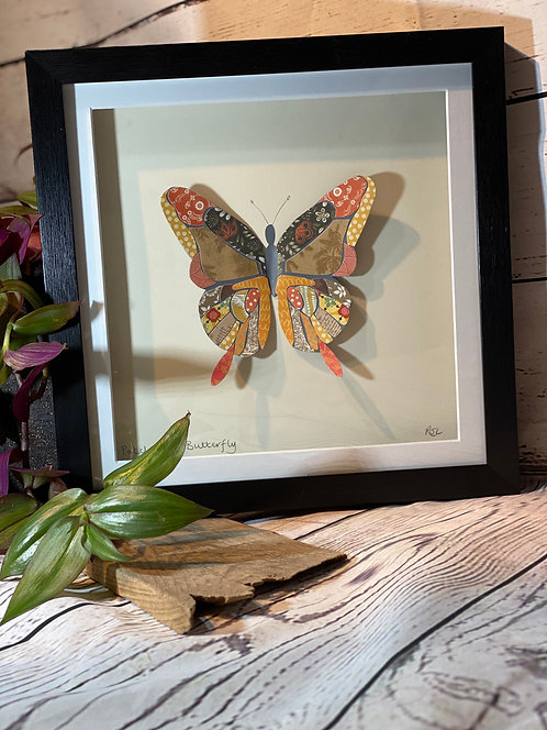 3D Paper-Craft Picture Patchwork Butterfly