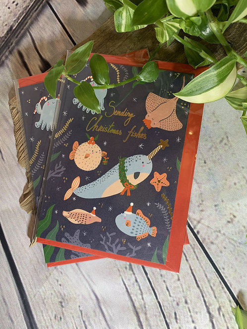 Sending Christmas Fishes Card