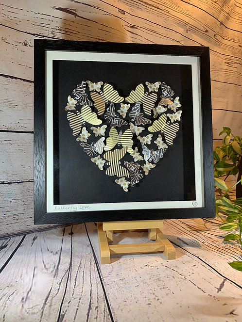 3D Paper-Craft Picture Butterfly Love