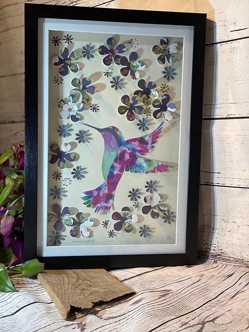 Hummingbird 3D Paper-Craft Picture