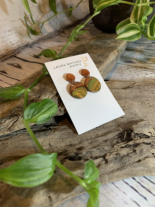 Marbled Rust Earrings
