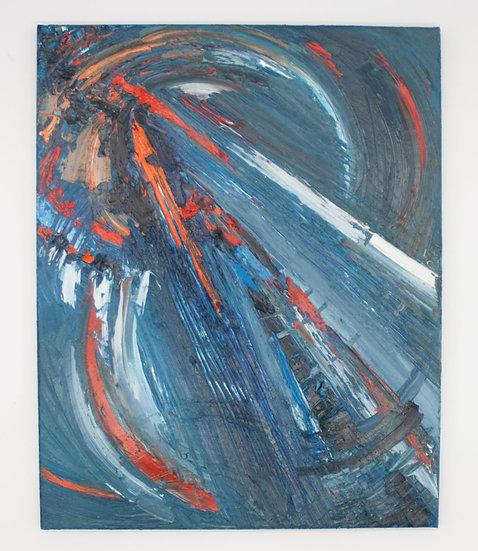 Blue & Orange Abstract