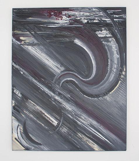 White Streak Abstract