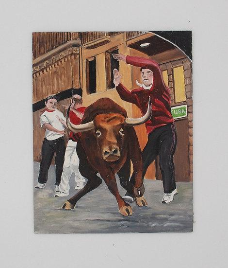 Bull in the Corridor!