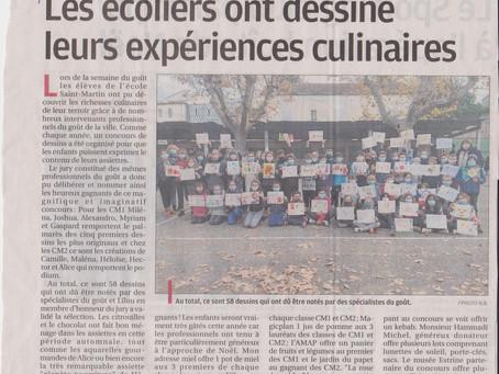 """CONCOURS DE DESSIN """"Dessine ton assiette"""" enCM1 et CM2"""