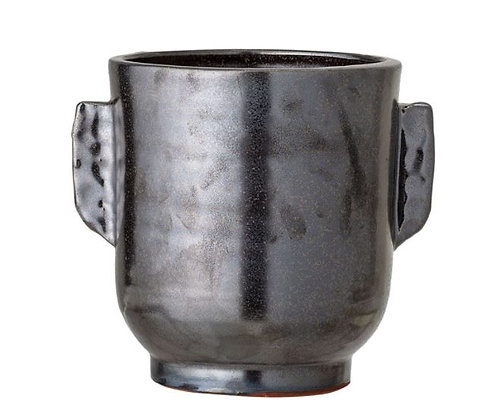 Small Noir Handled Vase