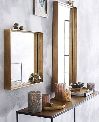 Brass Mirror Rectangular