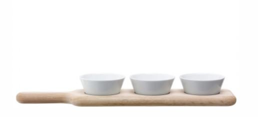 Oak Paddle+Bowl Set