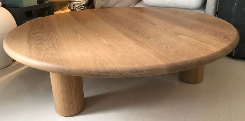 Oak Round Cocktail Table