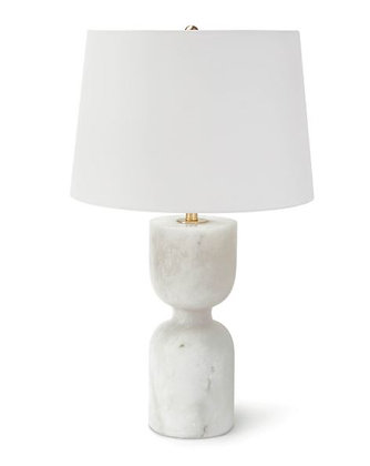 Alabaster Hourglass Table Lamp