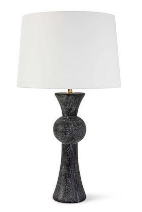 Noir Wooden Table Lamp