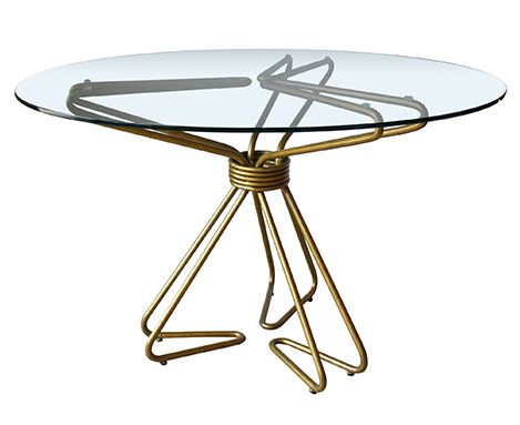 Hairpin Round Dining Table
