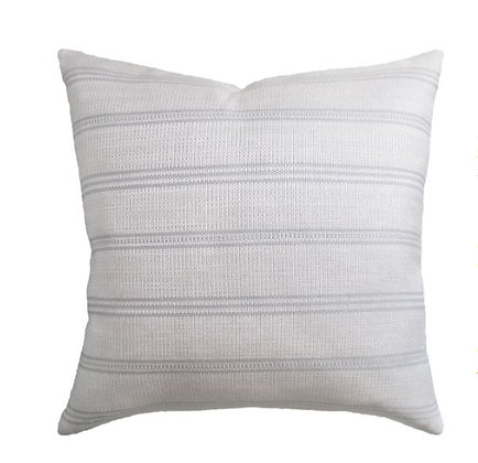Pale Stripe Outdoor Pillow