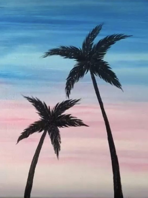 Palm Sunset (3-5)