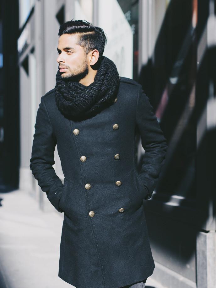 #black #coat #basic
