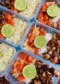 Asian Glazed Chicken & Vegetables with Jasmine Rice