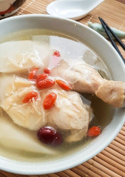 Double Boiled Ginseng Chicken Soup