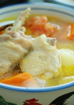 Vegetables & Chicken Soup