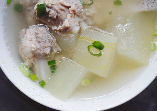 Double Boiled Winter Melon & Chicken Soup