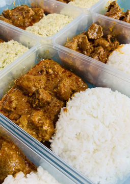 Malaysian Beef Rendang with Coconut Rice