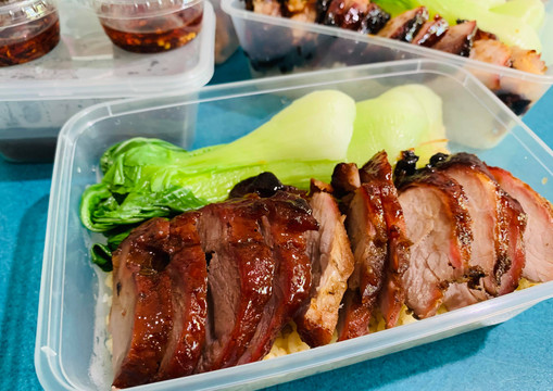 Hong Kong Style Char Siew (Roast Pork) with Rice