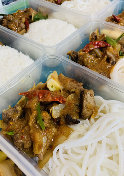 Uyghur Grilled Lamb with Rice Vermicelli