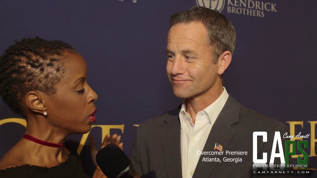 Pivotal of CAPS and Kirk Cameron on the Overcomer Red Carpet, Atlanta GA