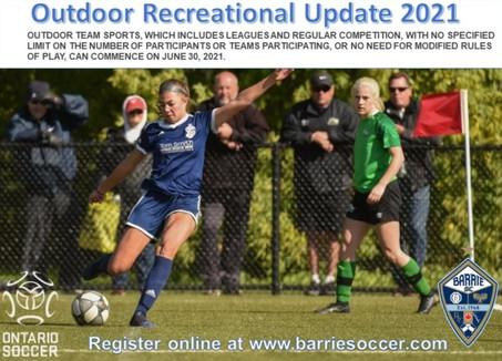 Outdoor Recreational Update