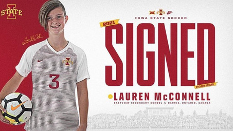 U17 Player Lauren McConnell Signs with Iowa State University!